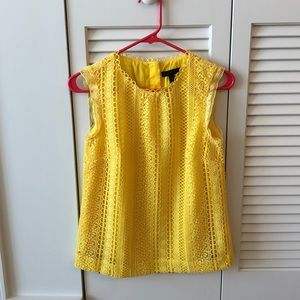 Yellow laced sleeveless top - size 00